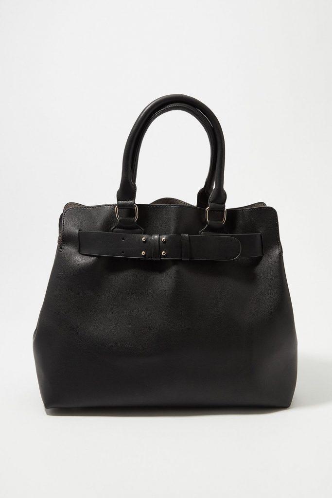belted tote bag