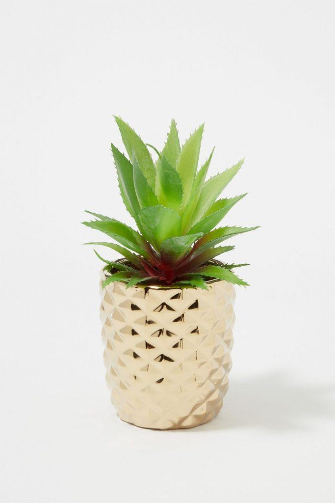chrome planter