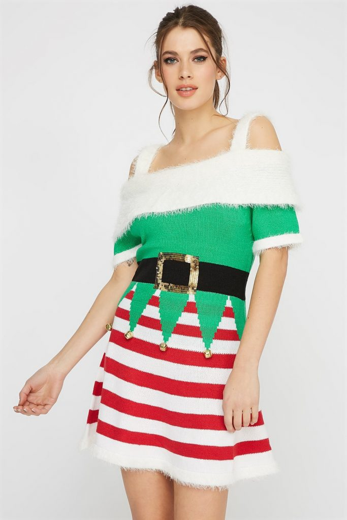 elf ugly Christmas dress