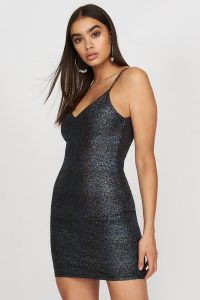metallic mini dress