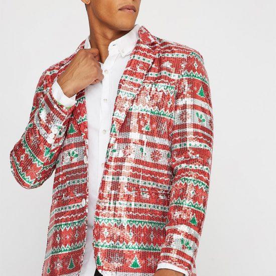 sequin ugly Christmas blazer