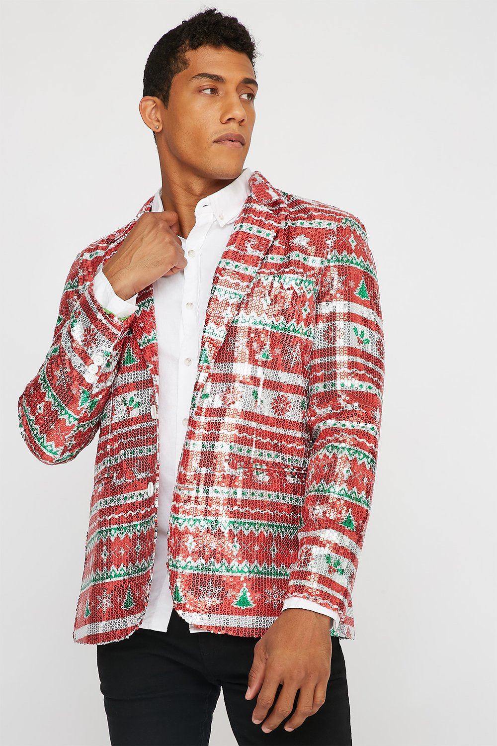 sequin ugly Christmas blazer