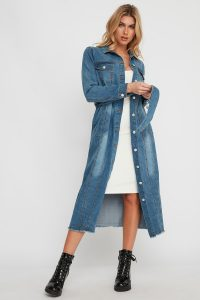 UP longline denim jacket