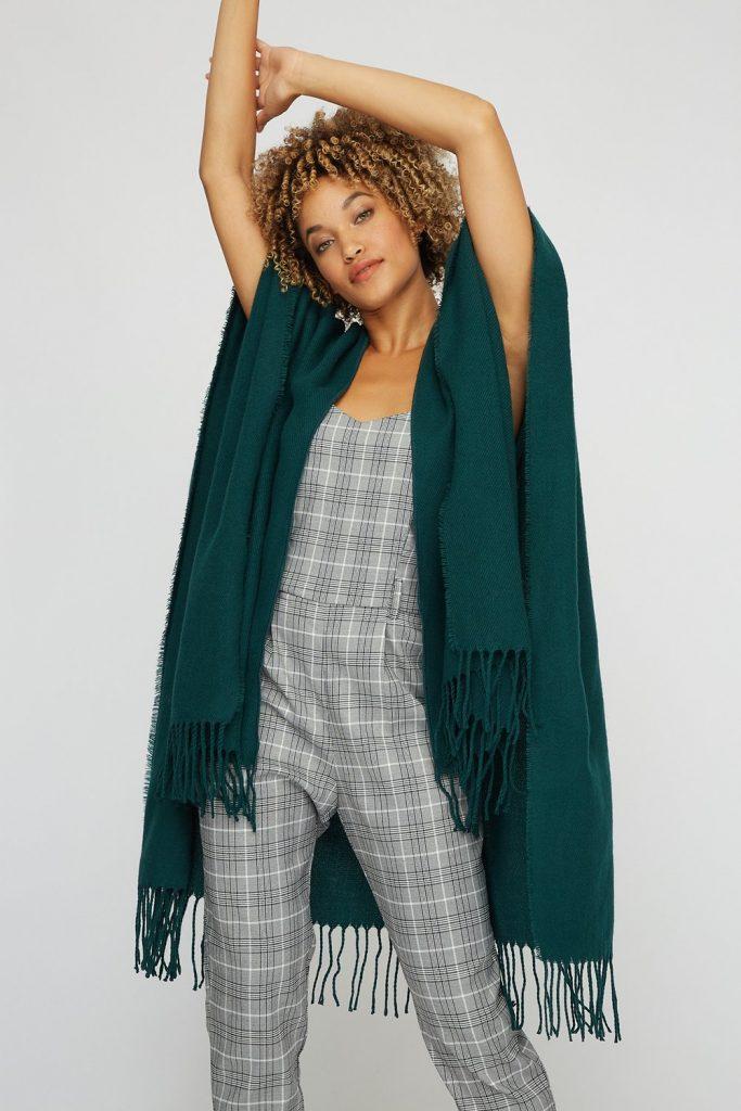 frayed hem scarf