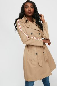 UP belted trench coat
