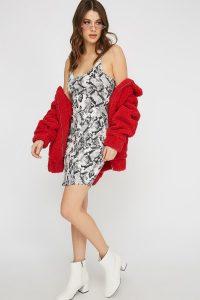UP snakeskin dress
