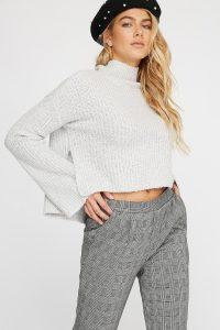 grey chenille sweater