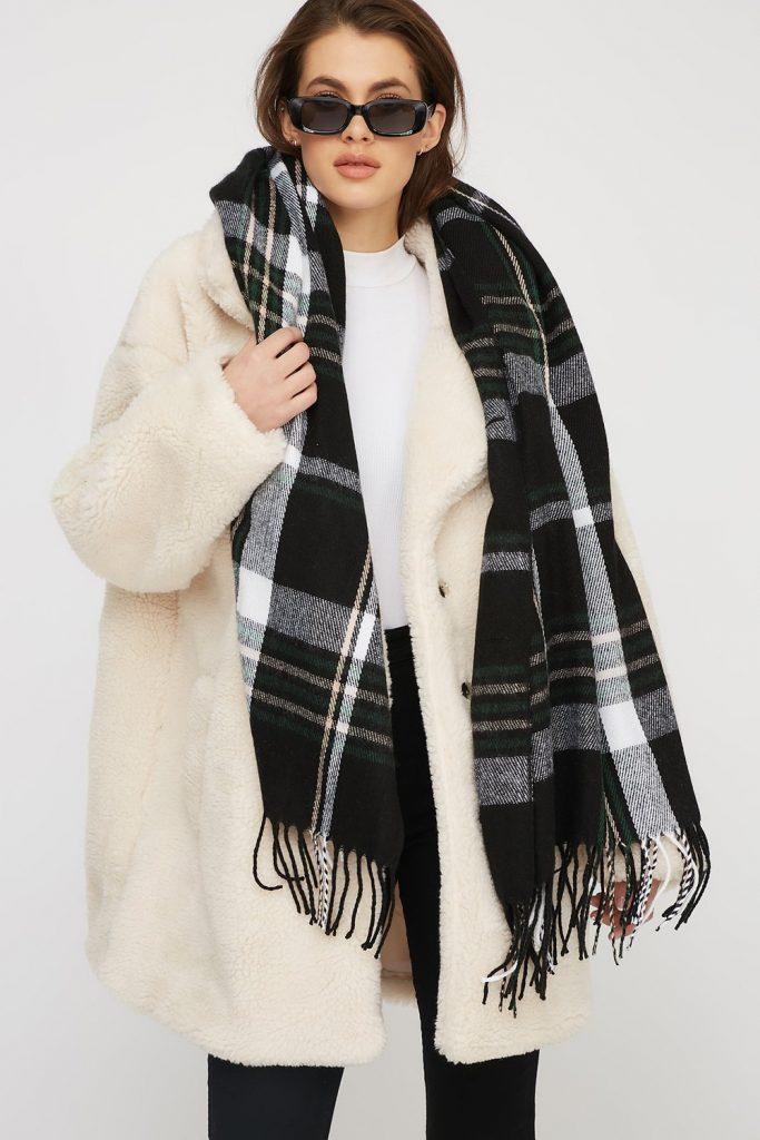 plaid scarf