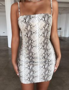 TM snakeskin dress