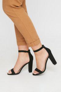 peep toe heel sandal