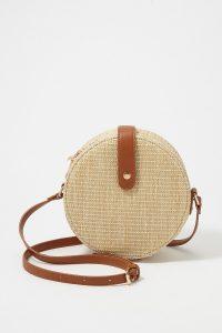UP straw crossbody bag