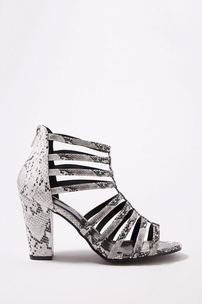 caged block heels