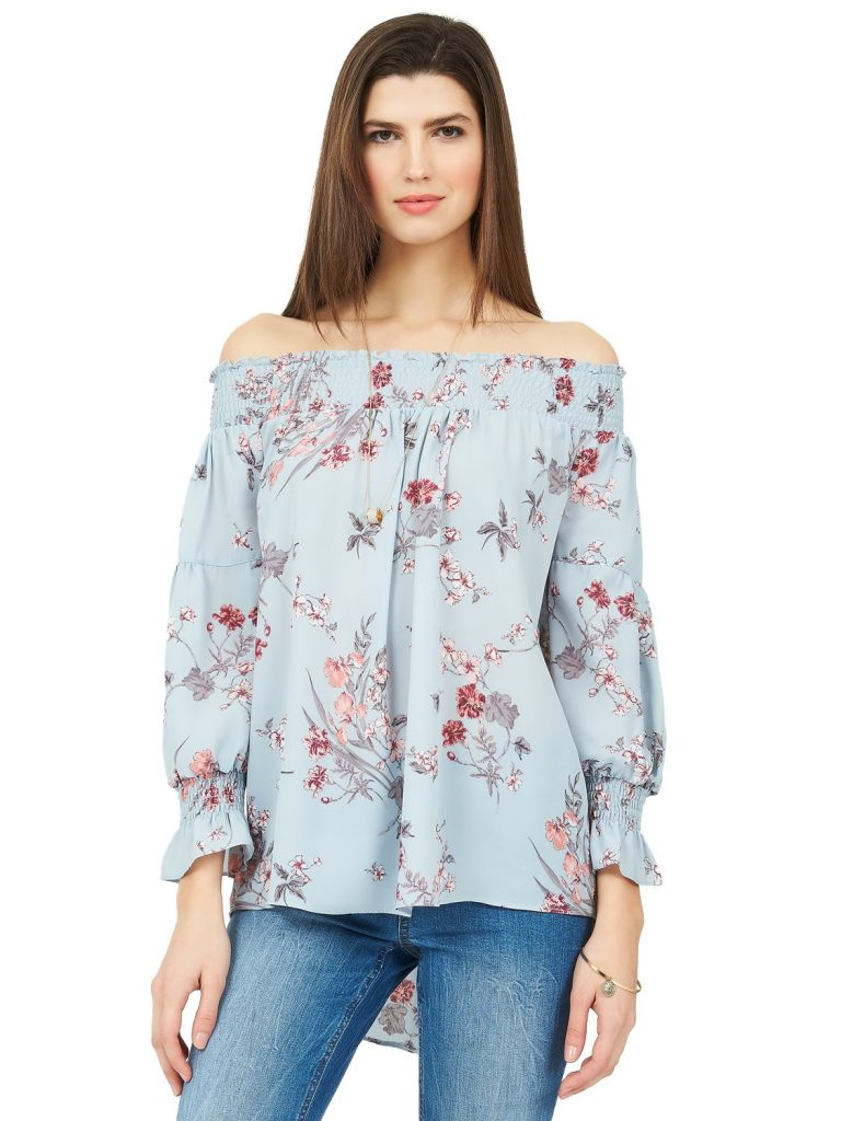 chiffon off the shoulder