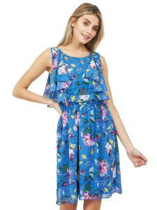 floral waist dress