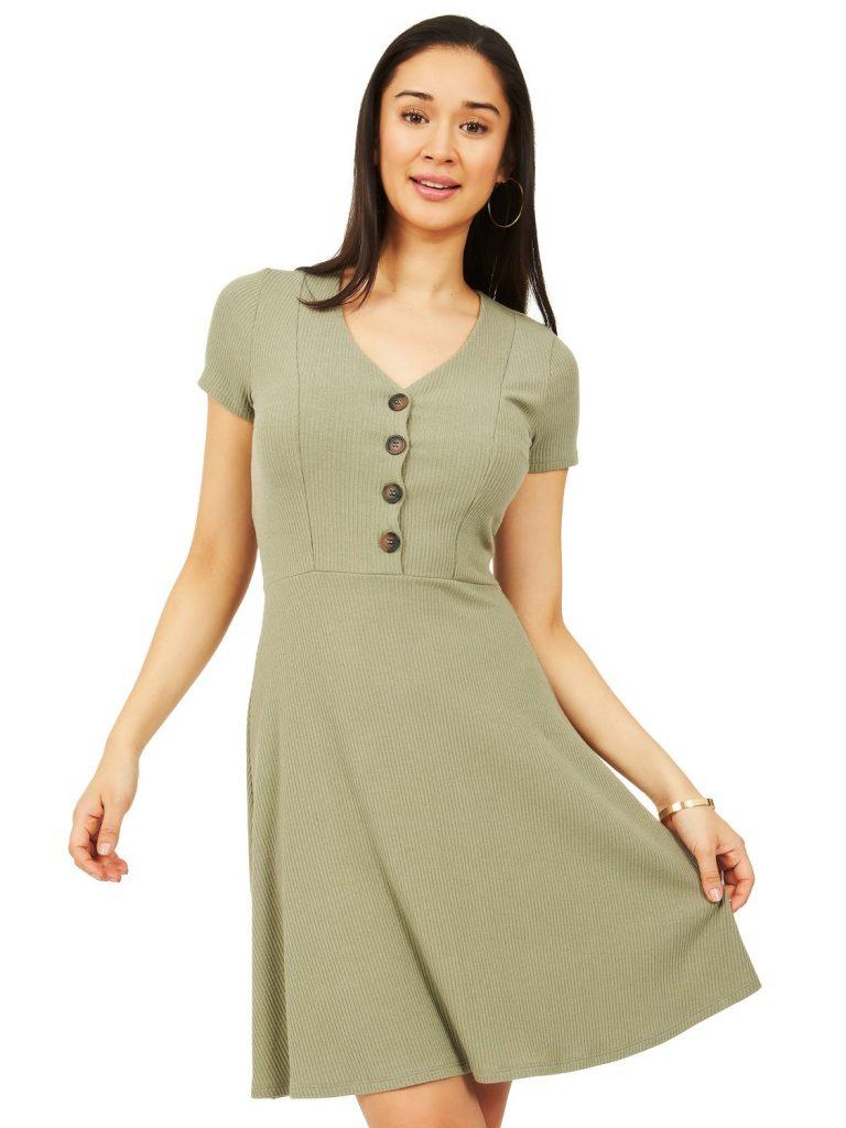 knit flare dress