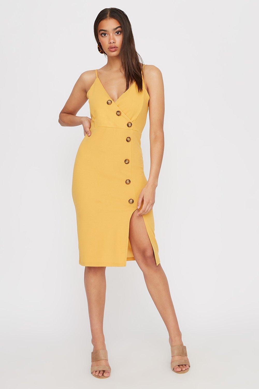 slit midi dress