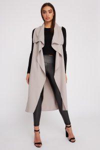 belted longline vest