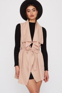 belted waterfall vest