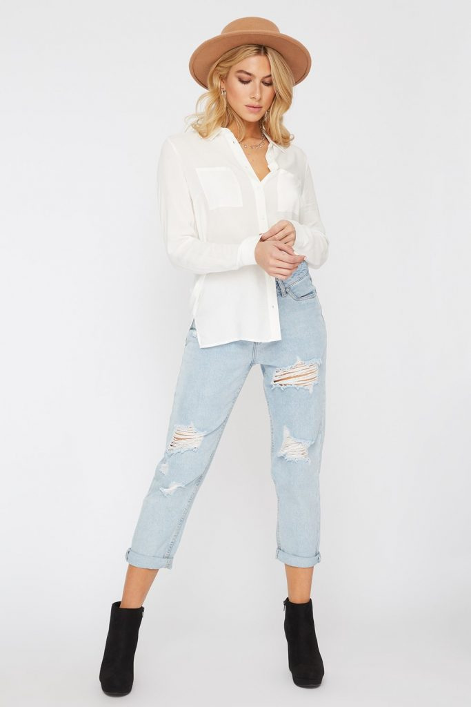 button-up long sleeve shirt