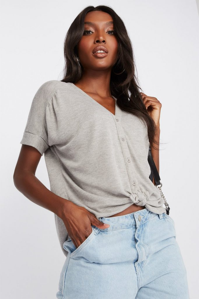 dolman button up shirt