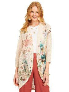 floral sweater cardigan