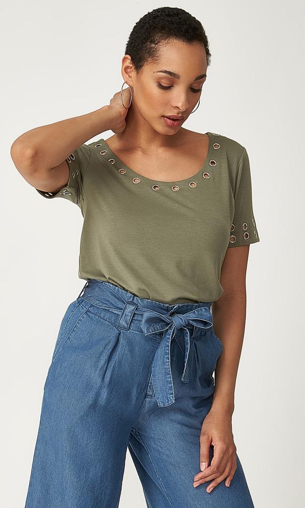 grommet t-shirt
