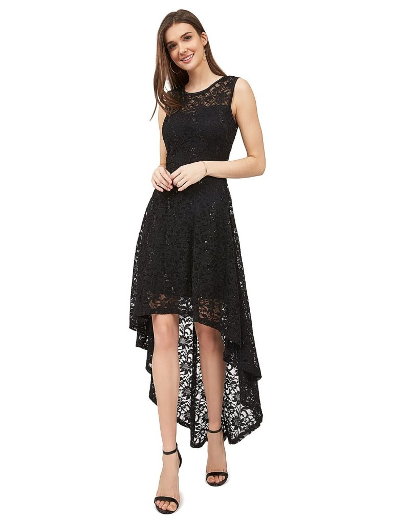 lace sequin dress