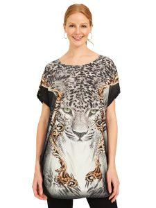 leopard graphic tee
