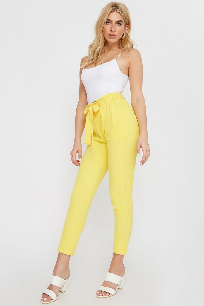 paperbag patch pocket pant
