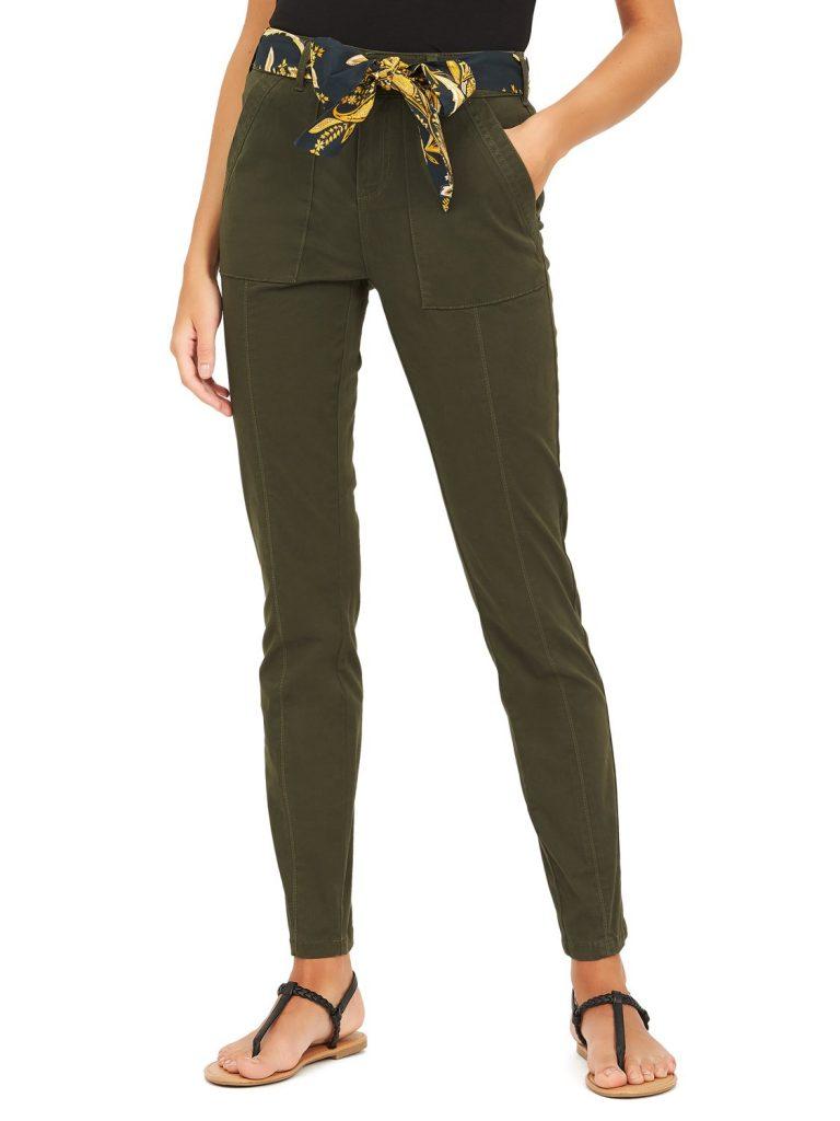 skinny twill trousers