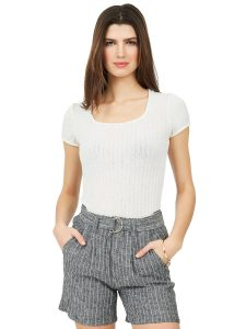 square neck ribbed top
