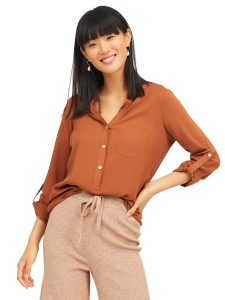 blouse with front pockets