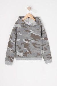 camo popover hoodie