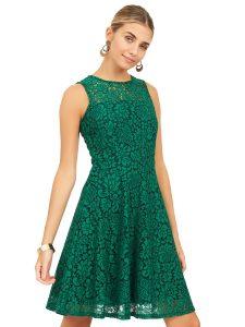 contrast lace dress