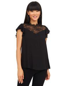 lace mesh blouse