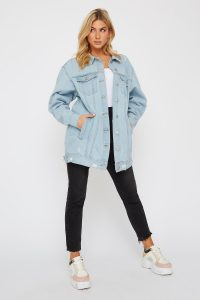 oversized distressed denim jacket
