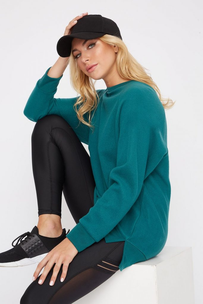oversized fleece sweatshirt