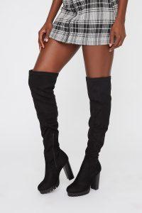 platform thigh high boot