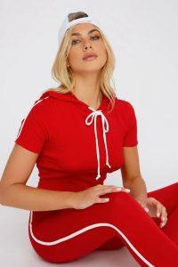 side striped hoodie