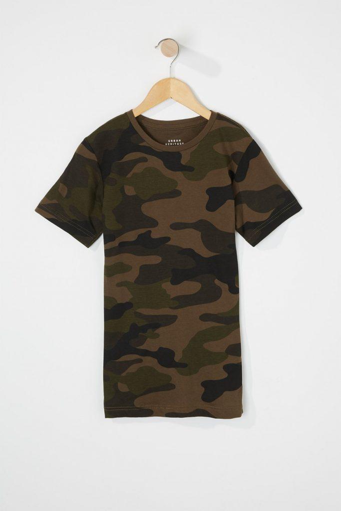 boys camo t-shirt