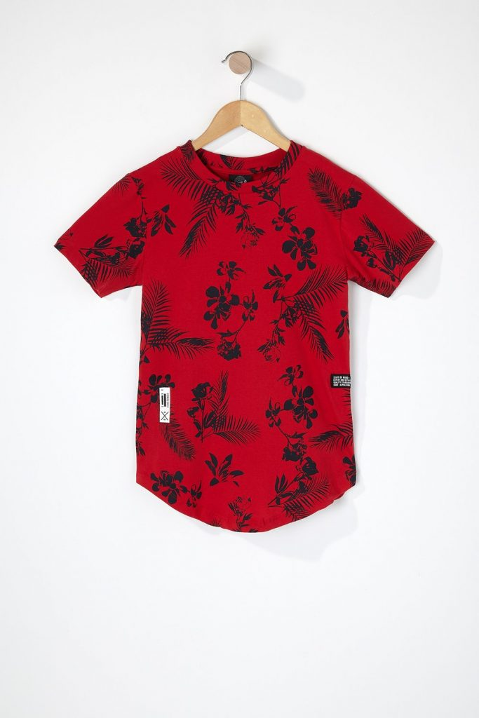 boys floral graphic t-shirt