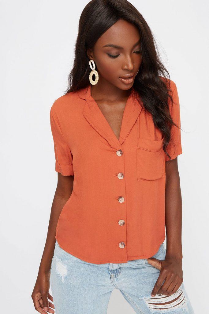 button up short sleeve shirt
