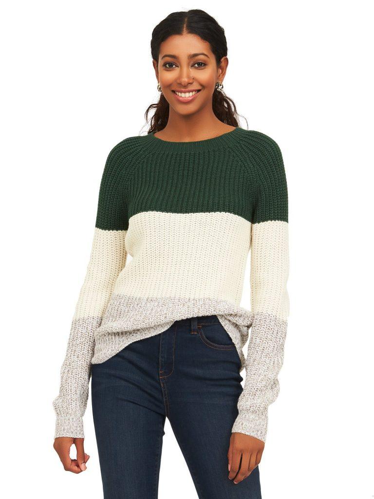 crew neck knit sweater