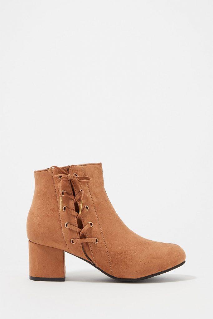 faux-suede heel bootie