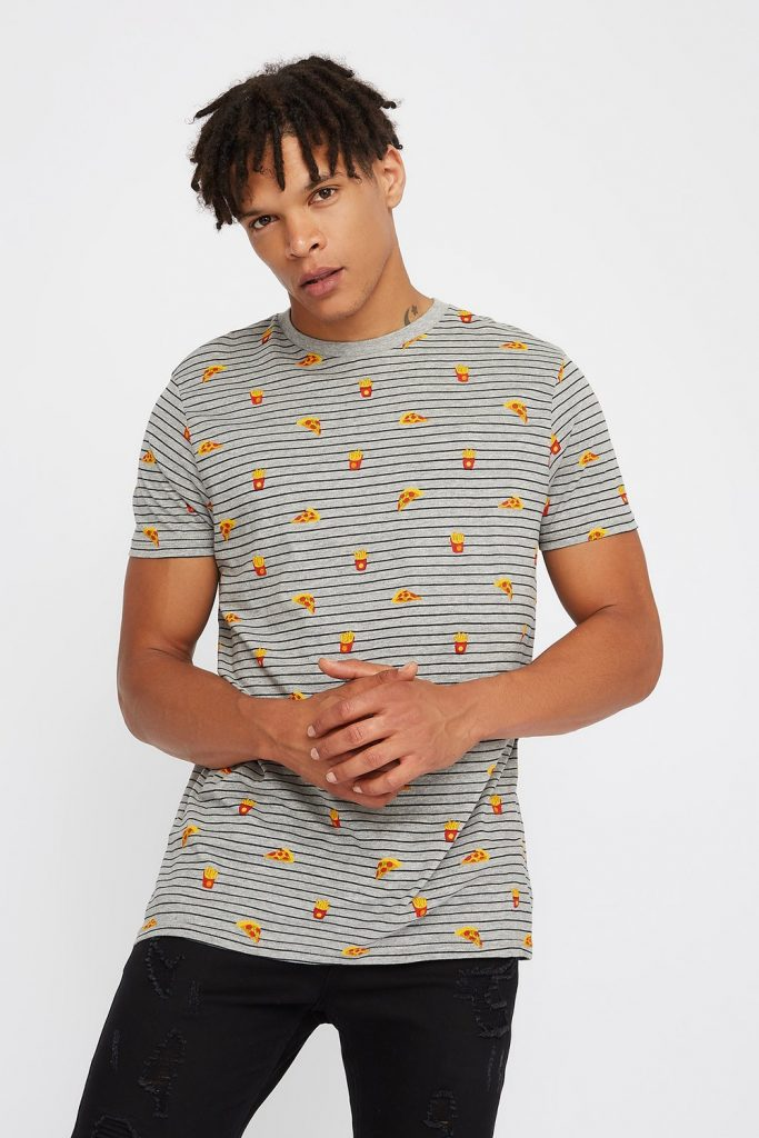 food striped t-shirt
