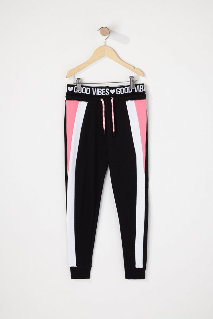 girls graphic jogger