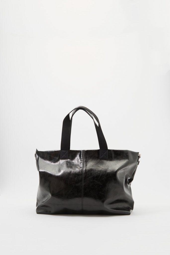 metallic duffle tote bag