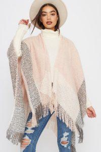 metallic fringe scarf