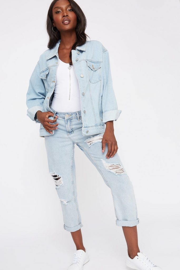 oversized trucker denim jacket
