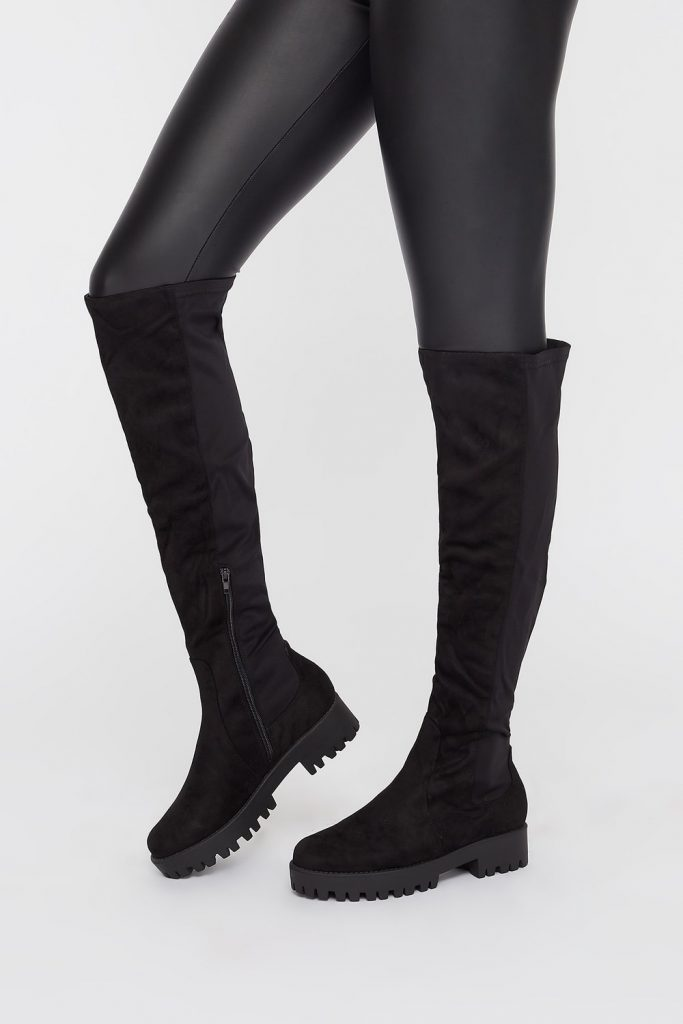 platform knee high boot